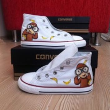 Curious George Converse Shoes - Free Shipping Hand Painted Shoes from denimtrend ®