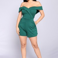 West Virginia Romper - Hunter Green