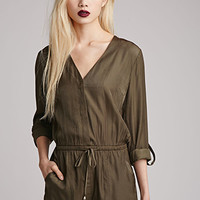 Collarless Sateen Romper