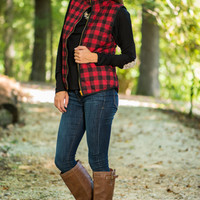 Mountain Top Vest, Red