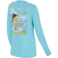 Academy - Guy Harvey Women's Hot Island Blue Long Sleeve Shirt