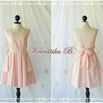 A Party Dress V Shape - Cocktail Dress Wedding Bridesmaid Dress Party Prom Dress Backless Dress Homecoming Old Rose Pink Dress