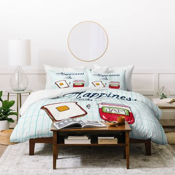 Heather Dutton Happiness Is Toast And Jam Duvet Cover