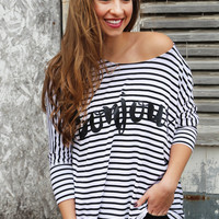 Bonjour Striped Tunic