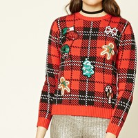 Sequined Patch Holiday Sweater