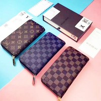 LV Long Leather print Purse Wallet H-A-GHSY-1