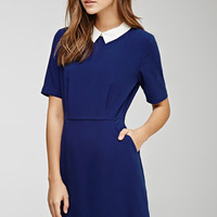 Collared Crepe A-Line Dress