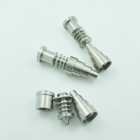 Titanium Nail Domeless GR2 G2 for 16mm 20mm Heater Coil Dnail D-Nail Enail for Both Female& Male joint 10mm 14mm&18mm Glass Bong Water Piper