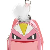 Fendi 'Monster' Genuine Fox & Nutria Fur Trim Backpack Bag Charm | Nordstrom