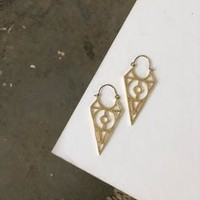 Fabio Brass Earrings