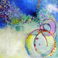 """Abstract Expressionist Painting on Canvas Colorful Contemporary  """"Recollections"""""""
