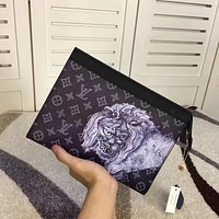 LV Louis Vuitton MEN'S MONOGRAM LEATHER HAND BAG