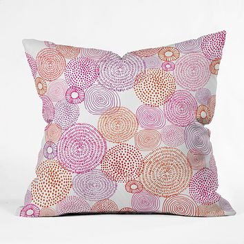 Camilla Foss Circles In Colours I Outdoor Throw Pillow