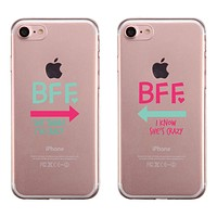 BFF Mint Pink Arrow BFF Matching Phone Covers Cool Friendship Gift