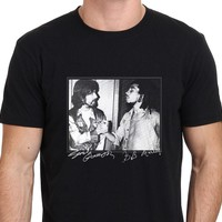 George harrison and Bob marley Rare footage Men's T-Shirt Size S-to-XXL For Man Hipster O-Neck Causal Cool Tops Hipster