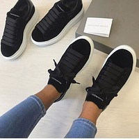 Alexander Mcqueen Casual Little White Shoes-44