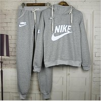 Nike:womens coat Printed Hooded Hooded Leisure Set