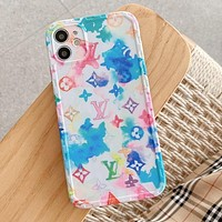 Louis Vuitton LV Fashion iPhone Phone Cover Case For iPhone 7 7plus 8 8plus X iPhone XR XS MAX 11 Pro Max 12 mini 12 Pro Max Colorful