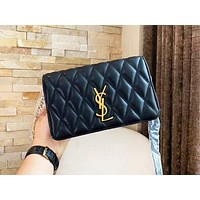 YSL hot selling lady's casual shopping bag fashion solid color zigzag line shoulder bag
