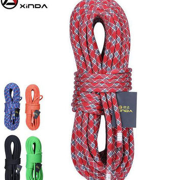 XINDA  knotted  mountain  rope for rock climbing gear equipment 10M 24kn DIA 10mm