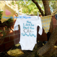 """Baby Girl Onesuit, """"So Fabulous"""" Little Girl and Children Clothing"""