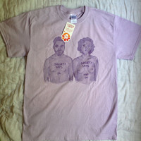 Feminist Shirt - Free the Nipple - Society Says - in purple