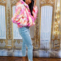 Cotton Candy Faux Fur