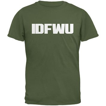 IDFWU Military Green Adult T-Shirt