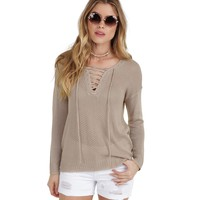 Taupe In Your Arms Pullover