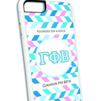 Gamma Phi Beta iPhone Case White
