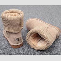 Tagre UGG Fashion Plush leather boots boots in tube Boots Beige