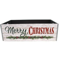 Christmas COUNTRYSIDE MESSAGE PLANTER Wood Messge 9733589L