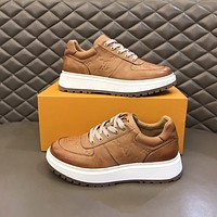 lv louis vuitton men fashion boots fashionable casual leather breathable sneakers running shoes 1185