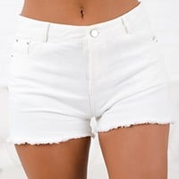 Oh Happy Day High Rise Shorts (Off White)