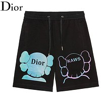 DIOR Newest Fashion Casual Print Running Sport Shorts Black