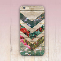 Floral Wood Print Phone Case For - iPhone 6 Case - iPhone 5 Case - iPhone 4 Case - Samsung S4 Case - iPhone 5C - Tough Case - Matte Case