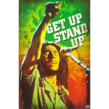 Bob Marley Get Up Stand Up Poster 24x36