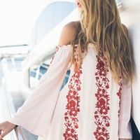 Spring Fling Dress Blush