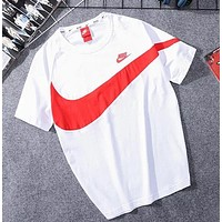 NIKE Summer Newest Trending Women Men Casual Big Logo Print Sport T-Shirt Top White