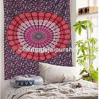 Indian Tapestry Mandala Throw Wall Hanging Ethnic Bedspread Twin Hippie Decor