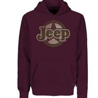All Things Jeep - Traditional Jeep Star Sweatshirt, Adult Hoodie, Burgundy