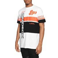 On Deck Color Block Racing Tee Infrared