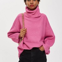 Oversized Roll Neck Jumper - Sweaters & Knits - Clothing