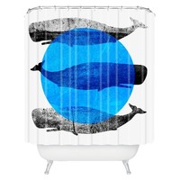 DENY Designs Whales Shower Curtain