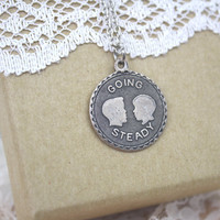 Going Steady Necklace Antique Silver / Free Shipping to the US