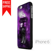 Tardis Tenth Doctor Dr Who In Space Purple FDL iPhone 6 Case