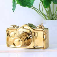 Minimalist ceramic camera ornaments Home Furnishing bedroom study ornament crafts decor figures modle Golden silver model gift