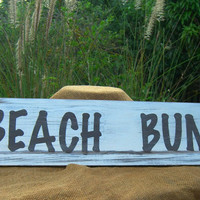 Wall Gallery BEACH BUM Wooden Sign, Beach Home Decor, Wooden Signs, Hand Painted Sign, Personalized Gift, Housewarmings, Holiday Gifts