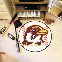 "Quincy University Baseball Mat 26"" diameter"