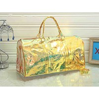 Inseva LV fashion casual men's and women's shopping bag hot seller with transparent printed gradient shoulder bag #5